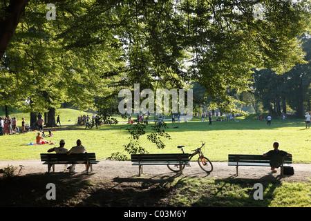 Englischer Garten park, Munich, Upper Bavaria, Bavaria, Germany - Stock Photo