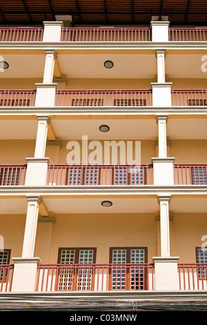 French colonial building, Phnom Penh, Cambodia - Stock Photo