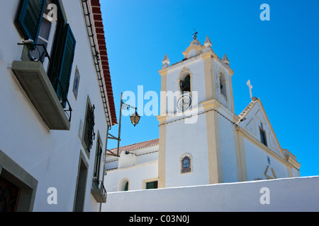 Portugal, Algarve, Ferragudo, the main Church - Stock Photo