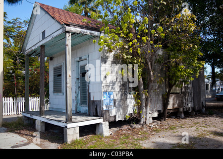 Small old house in Whitehead Street, Key West, Florida, USA - Stock Photo