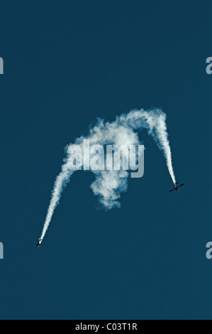 blades aerobatic display team at raf leuchars airshow in september 2010 - Stock Photo
