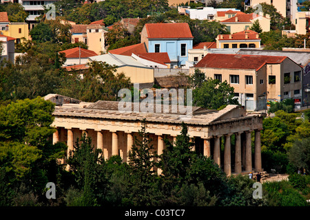 The temple of Hephaestus ('Hephaisteion' , also known as 'Theseion') at the Ancient Agora of Athens, Greece. - Stock Photo