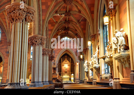 Cathedral of the Immaculate Conception Albany NY Stock Photo