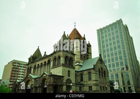 Trinity Church in Boston, Massachusetts. - Stock Photo