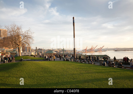 Victor Steinbrueck Park at sunset - Seattle, Washington - Stock Photo