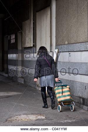 People walking - Paris France - Stock Photo