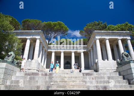 Rhodes Memorial in Cape Town - Stock Photo