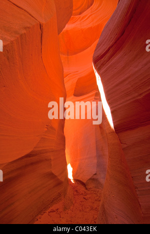 Colorful rock formations at Lower Antelope Canyon, Arizona - Stock Photo