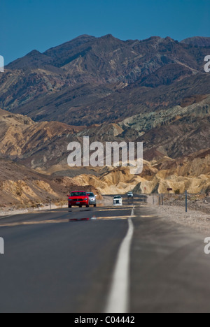 Colorful mountains in the Death Valley National Park - Stock Photo
