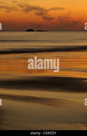 Scottish coastal sunset - Stock Photo