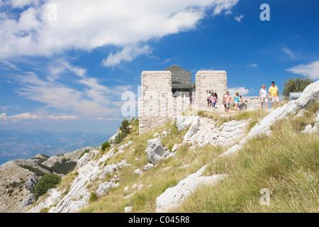 Njego's mausoleum, Lovcen National Park, Montenegro - Stock Photo
