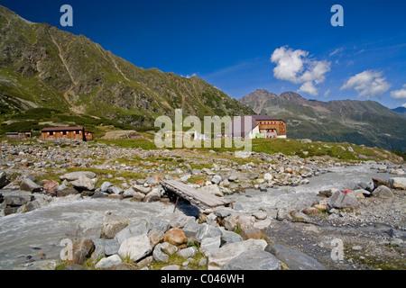 Alpine huts. - Stock Photo