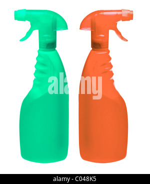 generic spray bottles (put on your own label) - Stock Photo