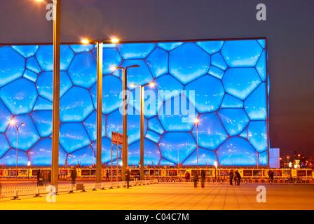 Beijing National Aquatics Center, The Water Cube - Stock Photo