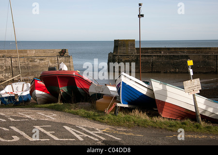 Craster harbour. Northumberland - Stock Photo