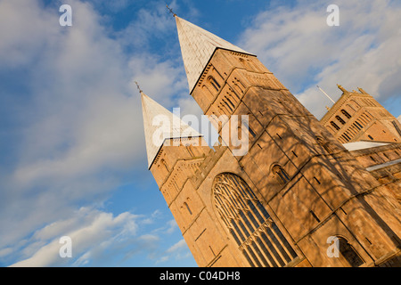 Front facade of Southwell Minster Southwell Nottinghamshire England GB UK EU Europe - Stock Photo