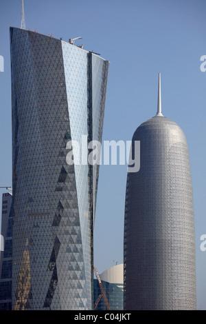 Qatar, Doha, skyscrapers, - Stock Photo