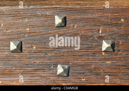 A detail of an old wooden door Stock Photo