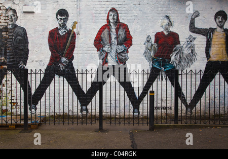 Wall Art in Manchesters Northern Quarter - Stock Photo