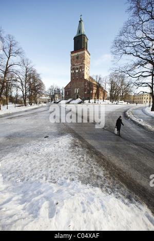 Finnland, Turku, 20110204, Dom in Turku - Stock Photo