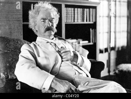 Mark Twain or Samuel Langhorne Clemens - Stock Photo