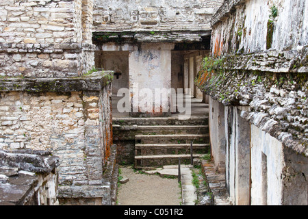 The Palace, Palenque, Chiapas, Mexico - Stock Photo