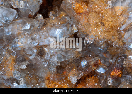 celestine crystal stone detail of a cristalized texture - Stock Photo