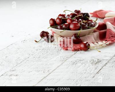 red cherries - Stock Photo
