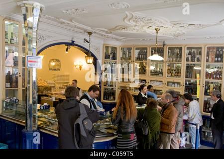 Pasteis de Belem, venerable bakery from 1837, Lisbon, Portugal - Stock Photo