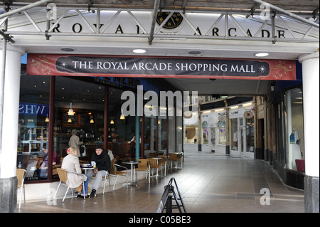 The Royal Arcade shops in Worthing West Sussex UK - Stock Photo