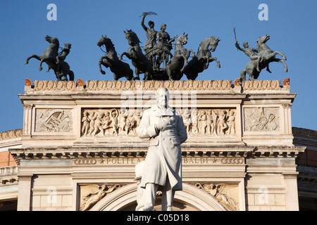 Politeama also know as Garibaldi Theater, Palermo, Sicily, Italy, Europe - Stock Photo