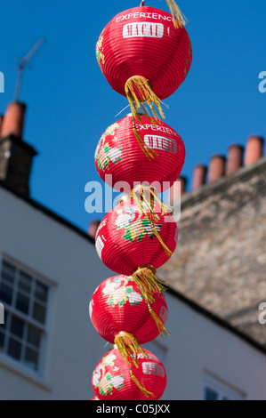 Lanterns in Chinatown,London - Stock Photo