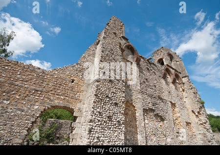 Wolvesey Castle ruin just outside Winchester town centre, Hampshire, England, UK - Stock Photo