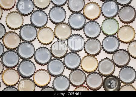 Crown beer bottle caps, UK - Stock Photo