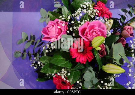 Colourful bouquet of flowers - Stock Photo