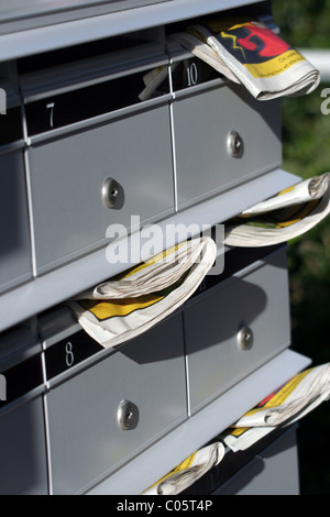 Letter Boxes In A Modern Apartment Block Stock Photo