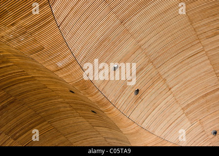 Ceiling of Welsh Assembly Building in Cardiff Wales - Stock Photo