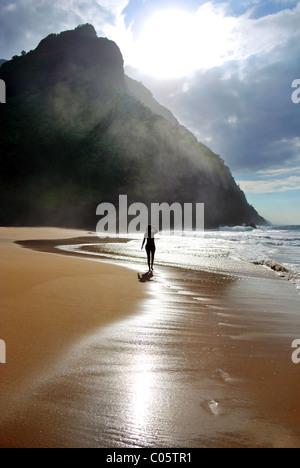 Island in the Sun. Na Pali Coast, Kauai Hawaii. - Stock Photo