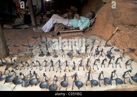 A souvenir shop in Kibidwe , Bobo Dioulasso. - Stock Photo