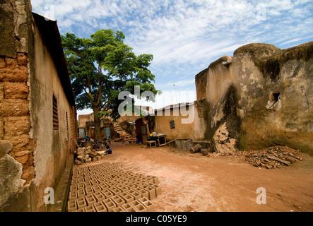 Kibidwe is an old village type of Bobo Dioulasso in Burkina Faso. - Stock Photo
