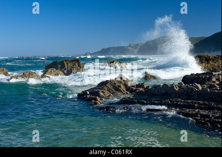 Portugal, the Algarve, the Costa Vicentina waves on the Western coast - Stock Photo