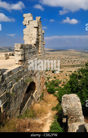 Ruin of Saint Simeon Monastery, Qala'at Samaan, Qalaat Seman archeological site, Dead Cities, Syria, Middle East, - Stock Photo
