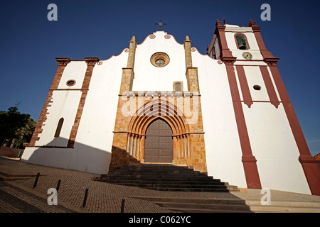The Cathedral of Silves in the hinterland of the Algarve, Portugal, Europe - Stock Photo