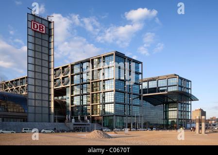 Hauptbahnhof, central railway station, Berlin-Mitte, Berlin, Germany, Europe - Stock Photo