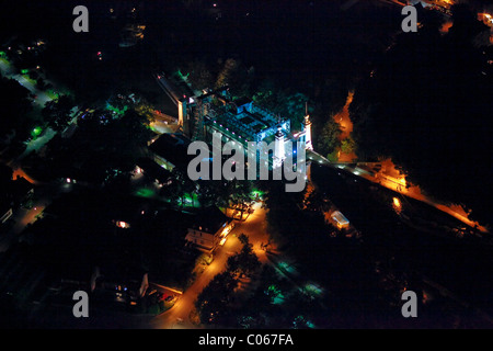 Aerial view, LWL Industrial Museum, ship lift Henrichenburg, Waltrop, Extraschicht 2010, night of industrial culture, - Stock Photo