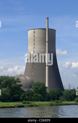 Nuclear power plant Muehlheim Kaerlich, cooling tower, power plant being dismantled, Rhineland-Palatinate, Germany, - Stock Photo