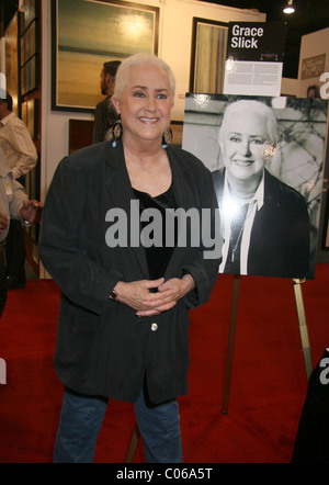 Grace Slick American singer and songwriter, exhibits her paintings and artwork at Mandalay Bay Hotel and Casino - Stock Photo