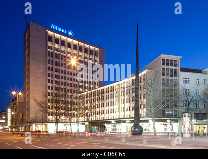 Allianz tower building, Berlin, Germany, Europe - Stock Photo