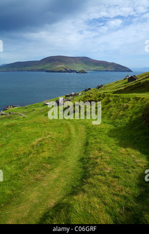 Great Blasket Island, The Blasket Islands, Off Slea Head on the Dingle Peninsula, County Kerry, Ireland - Stock Photo