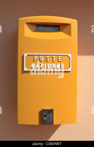 Poste Vaticane, mailbox of the Vatican Post, St. Peter's Basilica, Vatican City, Rome, Italy, Europe - Stock Photo
